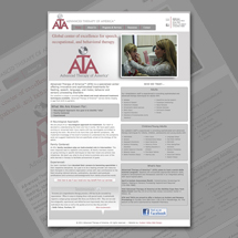 Custom web site design for Advanced Therapy of America
