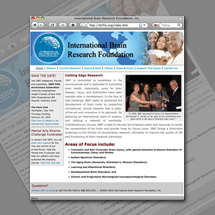 Web site re-design for International Brain Research Foundation