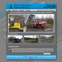 Custom designed web site for Miller's Minutemen Construction