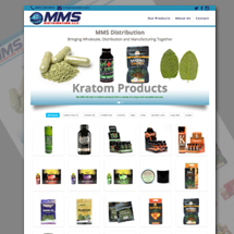 Custom designed web site for MMS Distribution
