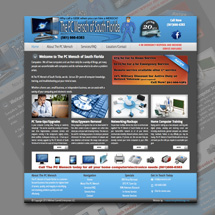 Custom designed web site for Florida IT company