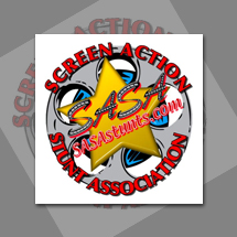 Custom logo design for Screen Action Stunt Association