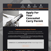 Custom designed web site for Smoke Wagon Firearms