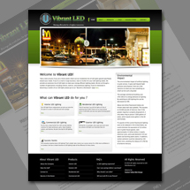 Custom web site design for Vibrant LED