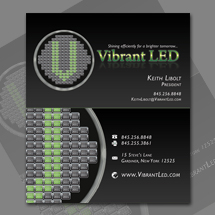 Logo and business card design and for Vibrant LED